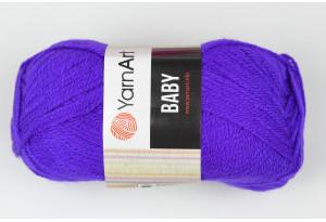 Пряжа YarnArt Baby, #203, неоновый фиолет