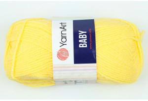 Пряжа YarnArt Baby, #315, светло-желтая