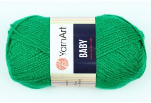 Пряжа YarnArt Baby, #338, зеленая