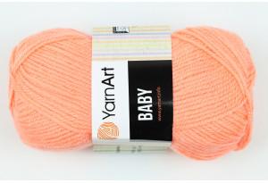 Пряжа YarnArt Baby, #622, светло-морковная
