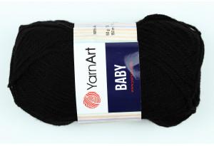 Пряжа YarnArt Baby, #585, черная