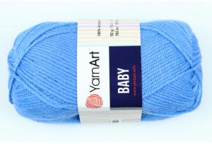 Пряжа YarnArt Baby, #600, темно-голубая