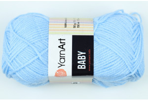 Пряжа YarnArt Baby, #215, голубая
