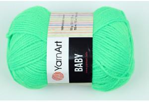 Пряжа YarnArt Baby, #8233, ярко-зеленая