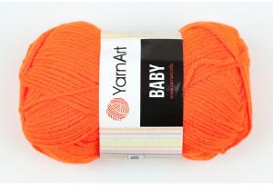 Пряжа YarnArt Baby, #8279, коралловый неон