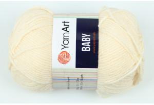 Пряжа YarnArt Baby, #854, кремово-персиковая