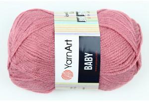Пряжа YarnArt Baby, #3017, розово-баклажанная