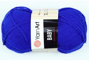 Пряжа YarnArt Baby, #979, ярко-синяя