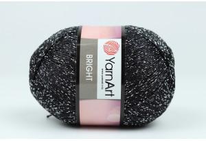 Пряжа YarnArt Bright, #107, черная
