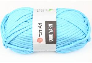 Пряжа YarnArt Cord Yarn, #763, ярко-голубая