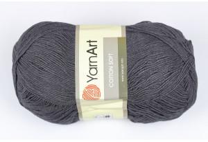 Пряжа YarnArt Cotton Soft, #28, черный джинс