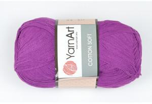 Пряжа YarnArt Cotton Soft, #50, тепло-фиолетовая
