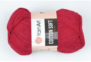 Пряжа YarnArt Cotton Soft, #66, бургунди