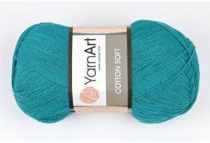 Пряжа YarnArt Cotton Soft, #63, изумрудная