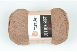 Пряжа YarnArt Cotton Soft, #71, бежево-коричневая