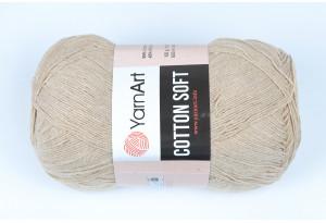 Пряжа YarnArt Cotton Soft, #87, бежевая