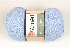 Пряжа YarnArt Cotton Soft, #75, голубая
