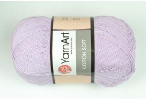 Пряжа YarnArt Cotton Soft, #19, светло-лиловая