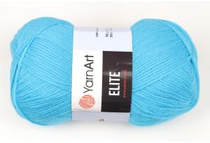 Пряжа YarnArt Elite, #45, темно-голубая