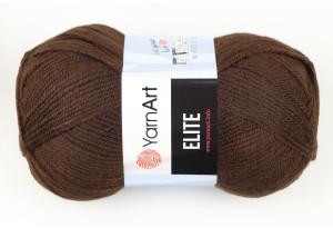 Пряжа YarnArt Elite, #217, шоколадная
