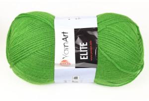 Пряжа YarnArt Elite, #248, оливково-зеленая