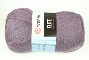 Пряжа YarnArt Elite, #852, пастельно-баклажанная