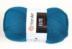 Пряжа YarnArt Elite, #850, сине-бирюзовая