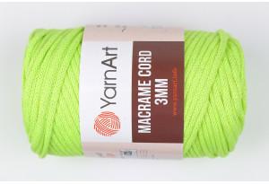 Пряжа YarnArt Macrame Cord 3mm, #801, салатовая