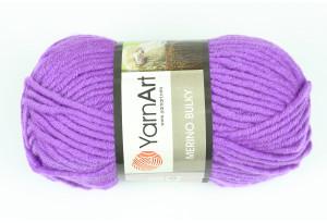 Пряжа YarnArt Merino Bulky, #9561, тепло-фиолетовая