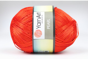 Пряжа YarnArt Pearl, #118, красная