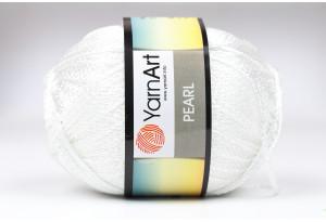 Пряжа YarnArt Pearl, #106, белая
