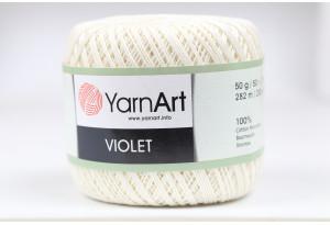 Пряжа YarnArt Violet, #6282, светло-кремовая