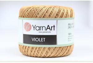 Пряжа YarnArt Violet, #5529, кофе с молоком