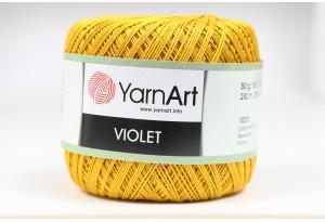 Пряжа YarnArt Violet, #4940, горчичная