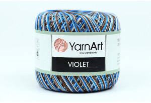 Пряжа YarnArt Violet Melange, #505, темно-синяя