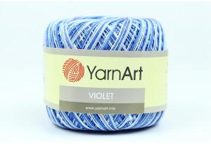 Пряжа YarnArt Violet Melange, #5355, темно-голубая