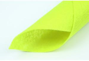 Фетр жесткий 20 x 25 см, толщина 1 мм, желтый