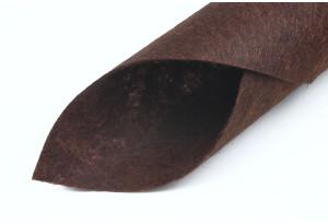 Фетр жесткий 20 x 25 см, толщина 1 мм, шоколадный