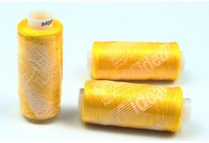 Нитки швейные IDEAL, №384, желтые