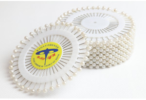 Швейные булавки с шариком, 40 шт., белые