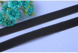Липучка для одежды пришивная, 2 см, черная