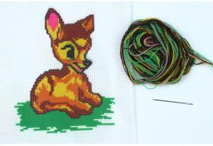 Набор для вышивки нитками, A5-020, Олененок