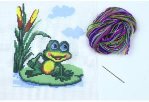 Набор для вышивки нитками, A5-007, Лягушонок