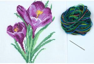 Набор для вышивки нитками, A5-048, Крокусы