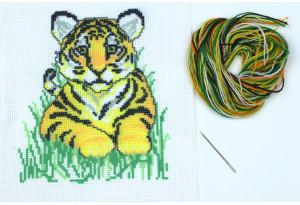 Набор для вышивки нитками, A5-086, Тигр