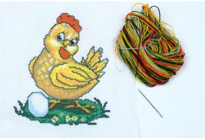 Набор для вышивки нитками, A5-011, Курочка
