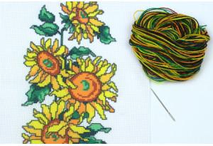 Набор для вышивки нитками, A5-015, Подсолнух