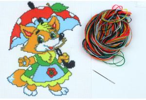 Набор для вышивки нитками, A5-050, Лисичка