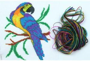 Набор для вышивки нитками, A5-081, Попугай