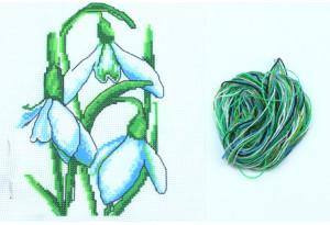 Набор для вышивки нитками, A5-030, Подснежники